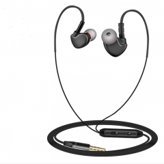 Super Bass Sweat Proof Sports Earphones with 3.5mm multi-colored black