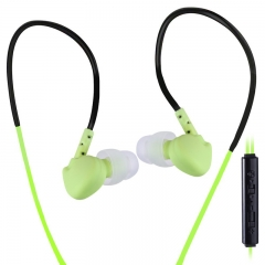 Super Bass Sweat Proof Sports Earphones with 3.5mm multi-colored green