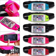 Sports Running Jogging Gym Waist Belt Bag Case Cover Holder For Mobile phone black 5.0~6.0inc currency