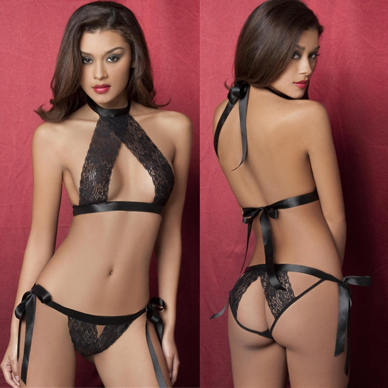 kilimall: lingerie black lace lingerie sexy tight temptation