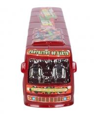 Plastic Ben 10 Kids Toy Bus- Red