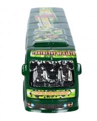 Plastic Ben 10 Kids Toy Bus- Green