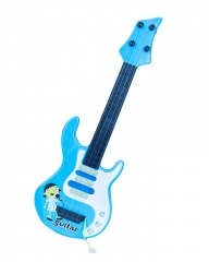 Medium Sized Metallic Kids Toy Guitar- Blue