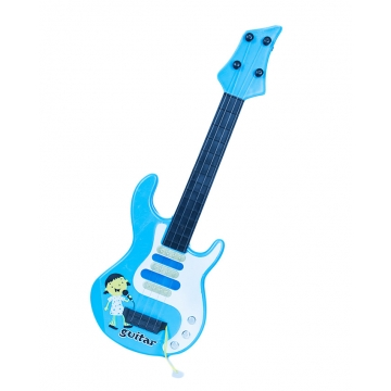 Medium Sized Metallic Kids Toy Guitar- Blue