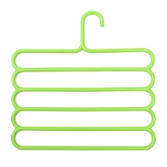 Pants Hangers Holders For Trousers Towels Clothes Apparel Hangers Five-layer Space Saving-Green GREEN