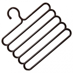 Pants Hangers Holders For Trousers Towels Clothes Apparel Hangers Five-layer Space Saving-Brown BROWN