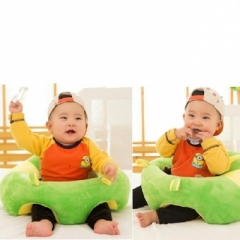 Baby Support Seat Soft Car Pillow Cushion Sofa for 3-6 Months Mutifunctional Baby Pillow GREEN AND YELLOW 38X38X19