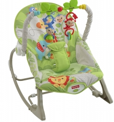Infant to Toddler Rocker- Green multi colour 45x8x30cm