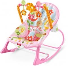 Infant to Toddler Rocker-PINK multi colour 45x8x30cm