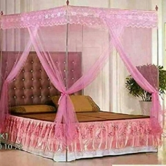 Mosquito Net with Metallic Stand - ALL SIZES PINK 4x6