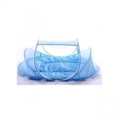 Foldable Infant Baby Child Pop Up Cot Bed- Blue BLUE 110x60x60cm