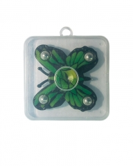 Fidget Hand Spinner Metal Finger Focus Toy EDC ADHD Autism Stress Relief golden- Butterfly green one size