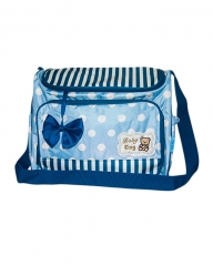 Baby Nappy Bags Diaper Bag Mother Shoulder Bag Maternity Mummy Handbag Waterproof Baby Bag one size bLUE one size