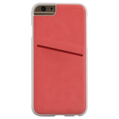 Classy Snap-On Leather Case With Card Slot for iPhone 6 Red 100561488 iPhone6/6S