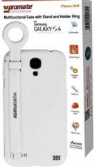 Promate  Multifunctional Case with a Stand and a Holder Ring for Samsung Galaxy S4 -100529595 white Samsung Galaxy S4