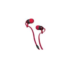 EUGIZMO U/SAL STEREO FLAT-CABLED EAR BUD-CHUM -100170827 red