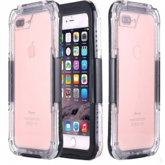 iPhone 7 Plus Waterproof Case, iPhone 7 Plus Case,Built-in Screen Protector Tough 2 in 1 Clear/Black one size