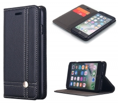 iPhone 7 Wallet Case,Leather Premium [Card Holder]Magnetic Closure Kickstand black one size
