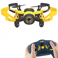 Mini RC Quadcopter Drone,Helicopter Headless Mode UFO With 0.3MP Camera Yellow Bee with WIFI one size