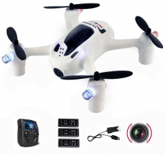Mini Quad Copter w/ Color Screen Transmitter V2 RC Quadcopter Drone with FPV Camera white one size