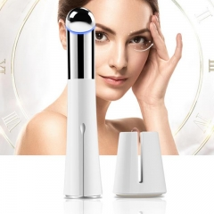 Facial Massager Vibrating Heating Eye Massager Nutrition Booster for Wrinkles of Skin Care USB white