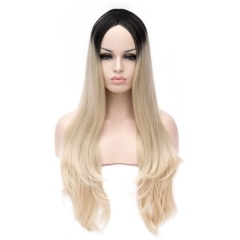High quality long hair staright hair sythetic wig women fashion wigs blond color XB0108 blond 24inch