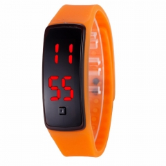 LED Digital Bracelet Watch Sport Silicone Strap Wristwatch for Men Women Children Gift Smart watch Orange 170mm-288mm