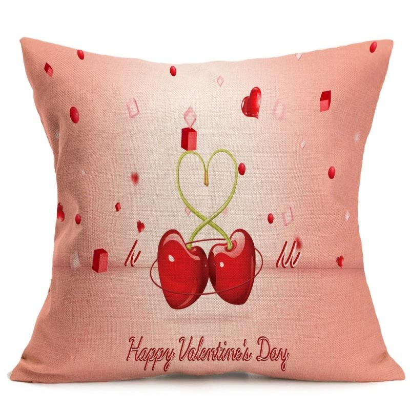 4 pcs colorful valentine lovers pillow cusion covers decorat