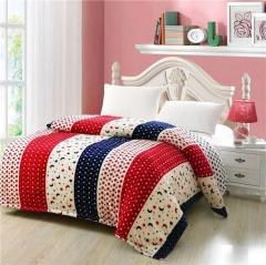 4PCS cotton quilt beddint sets various dots multicolour 200cm*230cm