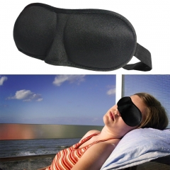 Relax blindfolded Travel Eye Mask Sleeping Shade 3D Deck-padded sleep Rosa Office black 23cm