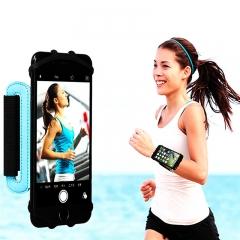 Rotatable Breathable Sport Wrist Belt Phone Armband Phone Holder Arm Bag for Samsung iPhone Blue for Phone
