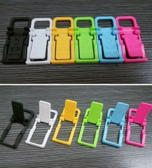 Phone Fold Holder Mini Desk Station Plastic Stand Folding Holder For Phone Color Random for Phone