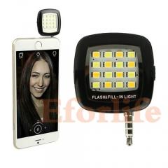 Portable Mini 16 Leds LED Flash Fill-Light for Tablet Computers/Samsung/Huawei/Xiaomi/Meizu black 35*20cmm