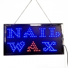 Nail Wax LED Neon Light Open Sign Twinkling Sparking lights for Salon 220V normal one size