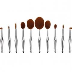 10pcs/set Tooth Brush Shape Oval Makeup Brush Set Professional Foundation Powder make up brushes 1