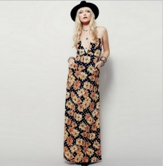 Long skirt high-definition printing dress as the picture S