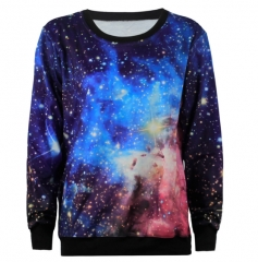 Explosion - starred female star sweater round neck long - sleeved shirt WYS1018 m