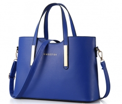 016 new summer fashion handbag Ladies Handbag NEW SHOULDER BAG blue One Size