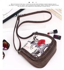 The new European style retro trend Mori printing Shoulder Messenger bag
