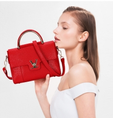 new summer tide shoulder diagonal cross small bag fashion handbag Crossbody Bag ladies handbag red one size