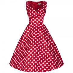 Summer Hot Sleeveless Wrap Dress V-Neck Dress red s