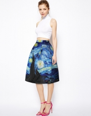 The new vortex printing slim bubble skirt as the picture S/M