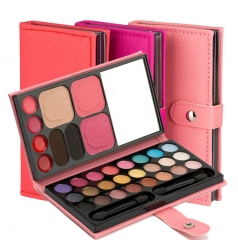 33 colors makeup palette eyebrow lip gloss Color Eyeshadow blush nude make-up bag pink bag