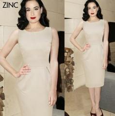 ZINC business OL dress hot ladies apricot design dress apricot s
