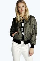 New solid color zipper jacket female coat green s