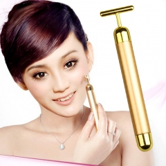 Beauty bar beauty instrument live firming stick electric beauty T rod massager golden