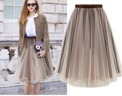 Double gauze skirt new fashion sexy all-match puff skirt as the picture s