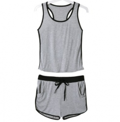Sexy Color Block Backless sportswear For Women S as the picture