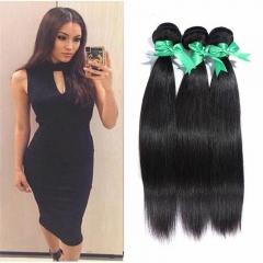 MikeHAIR Virgin Peruvian Hair Straight 3 Bundles Cheap Hair Weave Bundles Peruvian Straight Hair 1b 8 8 8inch