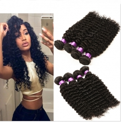 7A Unprocessed Peruvian Virgin Deep Curly 4Bundles Peruvian Deep Curly Hair Natural Colour 1b 6 6 8 8inch